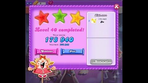 Candy Crush Saga Dreamworld Level 40 ★★★ 3 Stars