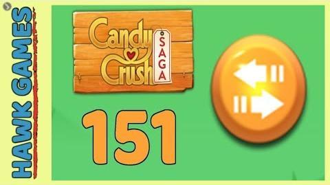 🌳 Candy Crush Saga Level 151 (Moves level) - 3 Stars Walkthrough, No Boosters