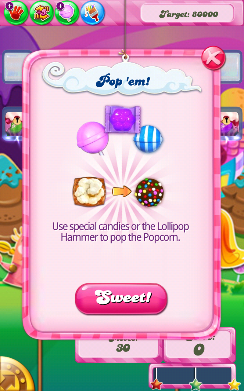 Popcorn | Candy Crush Saga Wiki | FANDOM powered by Wikia