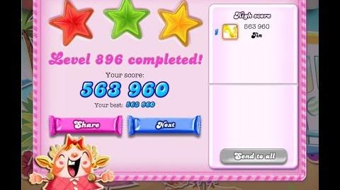 Candy Crush Saga Level 896 ★★★ NO BOOSTER