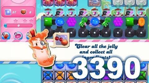 Candy Crush Saga Level 3390 (3 stars, No boosters)