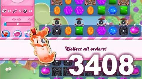 Candy Crush Saga Level 3408 (3 stars, No boosters)