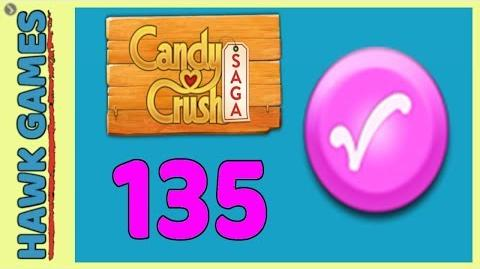 🌳 Candy Crush Saga Level 135 (Candy Order level) - 3 Stars Walkthrough, No Boosters
