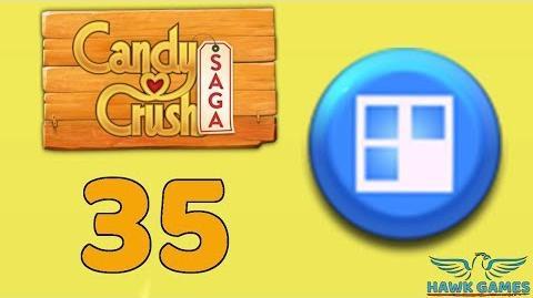 Candy Crush Saga 🎪 Level 35 (Jelly level) - 3 Stars Walkthrough, No Boosters