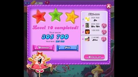 Candy Crush Saga Dreamworld Level 10 ★★★ 3 Stars