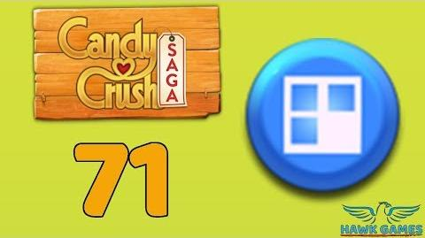 Candy Crush Saga 🎪 Level 71 (Jelly level) - 3 Stars Walkthrough, No Boosters