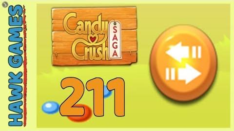 Candy Crush Saga Level 211 (Moves level) - 3 Stars Walkthrough, No Boosters