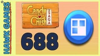 Candy Crush Saga Level 688 Nightmarishly hard (Jelly level) - 3 Stars Walkthrough, No Boosters