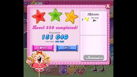 Candy Crush Saga Level 559 ★★★ NO BOOSTER