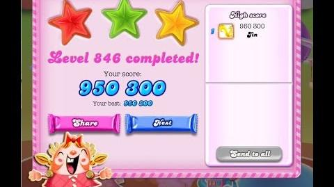 Candy Crush Saga Level 846 ★★★ NO BOOSTER