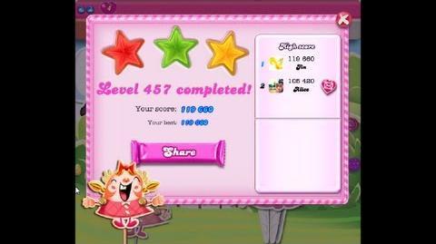 Candy Crush Saga Level 457 ★★★ NO BOOSTER-0