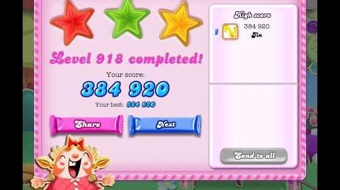 Candy Crush Saga Level 918 ★★★ NO BOOSTER