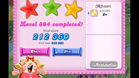 Candy Crush Saga Level 804 ★★★ NO BOOSTER