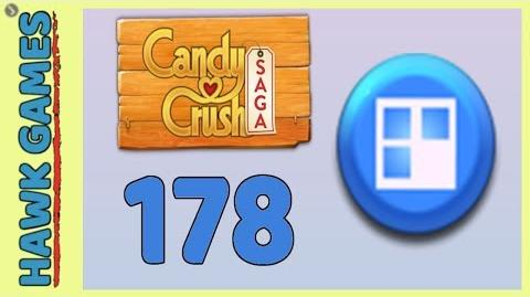 Candy Crush Saga Level 178 (Jelly level) - 3 Stars Walkthrough, No Boosters