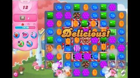Candy Crush Saga - Level 3472 - No boosters ☆☆☆