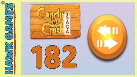 Candy Crush Saga Level 182 (Moves level) - 3 Stars Walkthrough, No Boosters