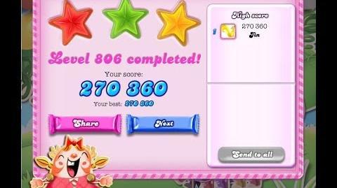 Candy Crush Saga Level 806 ★★★ NO BOOSTER