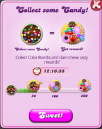 Weekend Event - Collect some Candy 1st stage reward