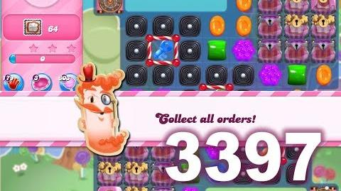 Candy Crush Saga Level 3397 (3 stars, No boosters)