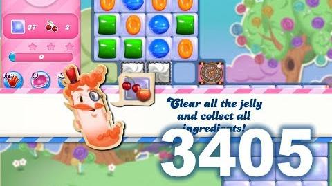 Candy Crush Saga Level 3405 (3 stars, No boosters)