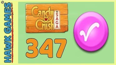 Candy Crush Saga Level 347 (Candy Order level) - 3 Stars Walkthrough, No Boosters