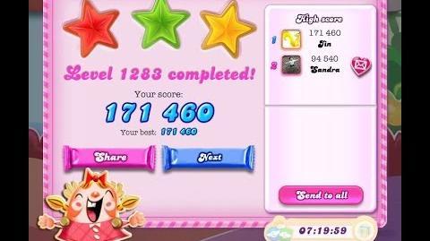 Candy Crush Saga Level 1283 ★★★ NO BOOSTER