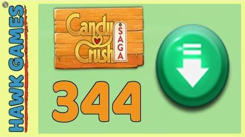 Candy Crush Saga Level 344 (Ingredients level) - 3 Stars Walkthrough, No Boosters