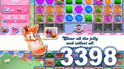 Candy Crush Saga Level 3398 (3 stars, No boosters)