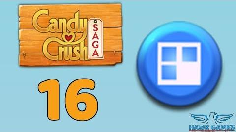 Candy Crush Saga 🎪 Level 16 (Jelly level) - 3 Stars Walkthrough, No Boosters
