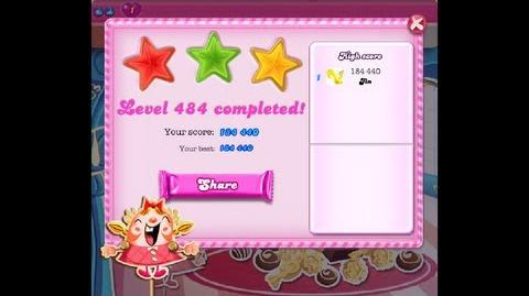 Candy Crush Saga Level 484 ★★★ NO BOOSTER