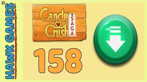 Candy Crush Saga Level 158 (Ingredients level) - 3 Stars Walkthrough, No Boosters