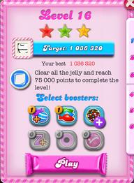 Level 16 score