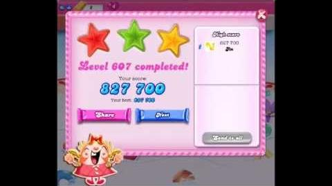 Candy Crush Saga Level 607 ★★★ NO BOOSTER