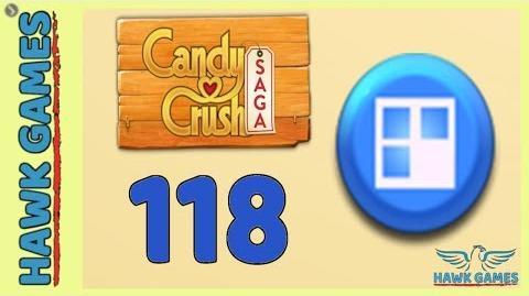 Candy Crush Saga 🎪 Level 118 (Jelly level) - 3 Stars Walkthrough, No Boosters