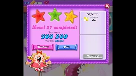 Candy Crush Saga Dreamworld Level 27 ★★★ 3 Stars