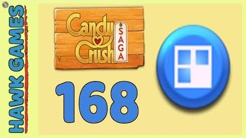 Candy Crush Saga Level 168 (Jelly level) - 3 Stars Walkthrough, No Boosters