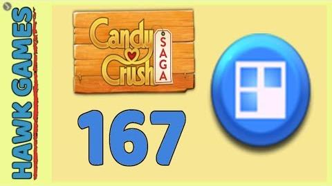 Candy Crush Saga Level 167 (Jelly level) - 3 Stars Walkthrough, No Boosters