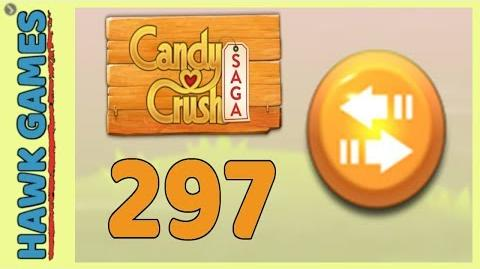Candy Crush Saga Level 297 (Moves level) - 3 Stars Walkthrough, No Boosters