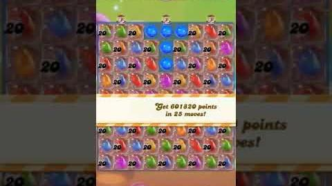 Candy Crush Level 1871 (5 candy colors, 20 move bombs)
