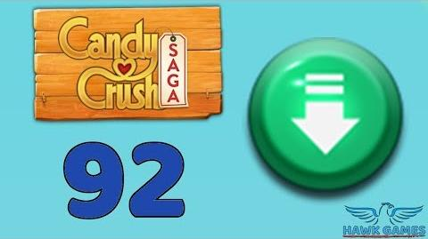 Candy Crush Saga 🎪 Level 92 Super Hard (Ingredients level) - 3 Stars Walkthrough, No Boosters