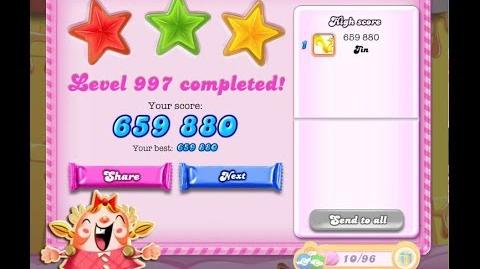 Candy Crush Saga Level 997 ★★★ NO BOOSTER
