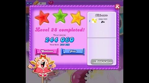 Candy Crush Saga Dreamworld Level 28 ★★★ 3 Stars