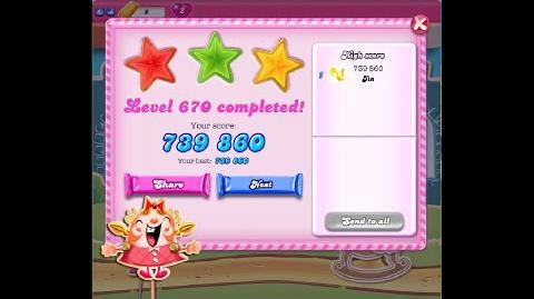 Candy Crush Saga Level 670 ★★★ NO BOOSTER