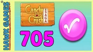 Candy Crush Saga Level 705 (Candy Order level) - 3 Stars Walkthrough, No Boosters