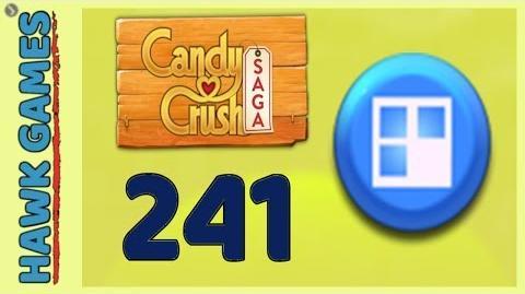 Candy Crush Saga Level 241 Super hard (Jelly level) - 3 Stars Walkthrough, No Boosters