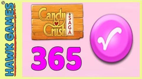 Candy Crush Saga Level 365 (Candy Order level) - 3 Stars Walkthrough, No Boosters