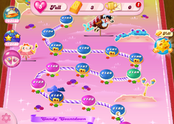 Candy Countdown HTML5 Map