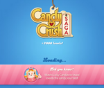 Candy Crush Saga Logo loading