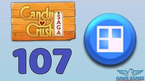 Candy Crush Saga 🎪 Level 107 Hard (Jelly level) - 3 Stars Walkthrough, No Boosters