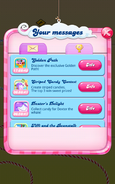 Striped Candy Contest Message